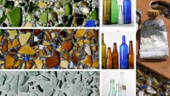 Recycled-glass countertops